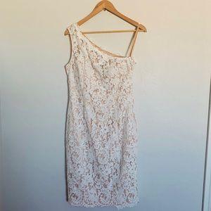 NWT Eliza J One Shoulder Lace Dress